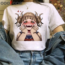 Camiseta de meu herói da academia harajuku, camiseta feminina engraçada de estampa de boku no hero academia, camiseta ullzang himiko toga 90s top camisetas femininas