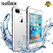 SHELLBOX مقاوم للماء قضية الهاتف آيفون 7 8 5 6 Plus 360 حامي للصدمات السباحة Coque غطاء لحالات أبل تحت الماء