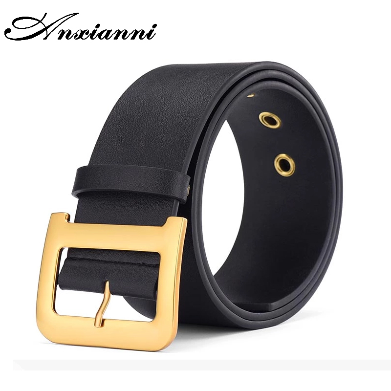 High-quality Designer 100% Leather Belt, Casual Luxury Metal Belt With D-shaped Buckle, Women's Clothing, Retro Style Girl Belt,