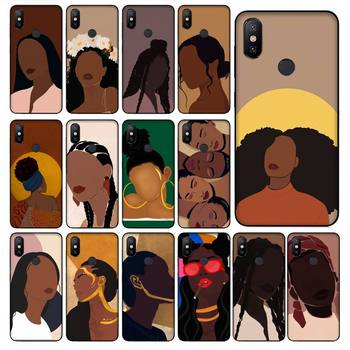 Melanin Poppin Aba Black Girl Phone Case For Redmi 7A 4X 5 6 7 8 8A 5Plus GO Note 4/4X 7 K20/Pro Case image