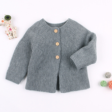 Baby Boys Girls Knit Cardigans Pullover Sweaters Winter Warm Newborn Infant Fashion Long Sleeve Clothes Hooded Jacket Coats Kids