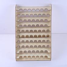 Деревянный стеллаж для хранения подставка держатель для 75 горшков акриловая краска хобби кисти