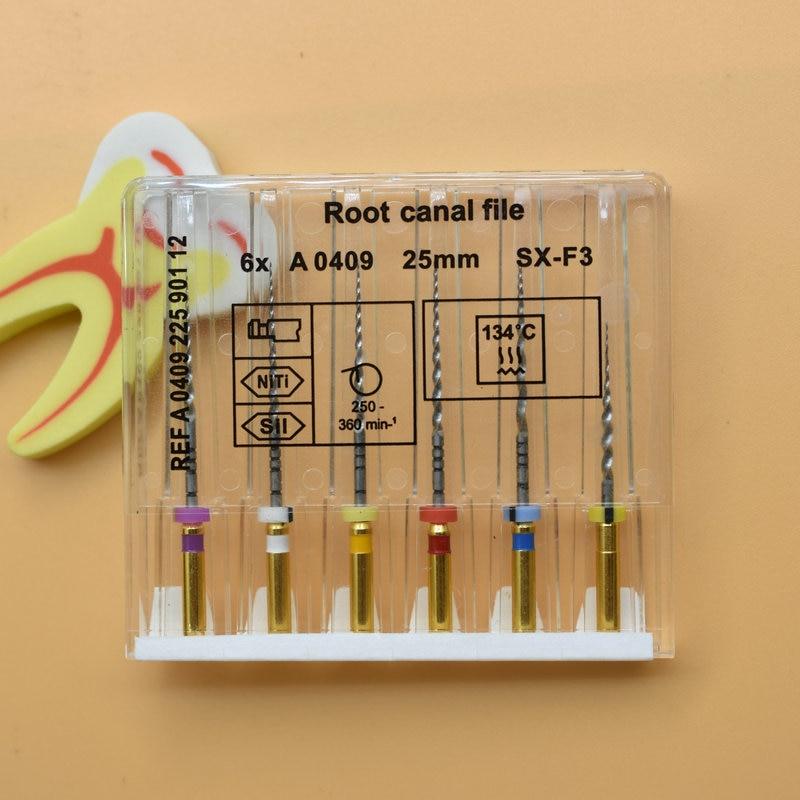 Dental Super Files Endo Rotary Files Endodontic Niti Files 21mm 25mm Nickel Titainium Instrument SX-F3 Dentistry