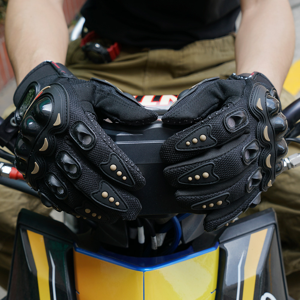 Summer Motorcycle Glove Protective Gears Armoured Knuckle Motorbike Motocross Racing Windproof Waterproof Wearable Gloves
