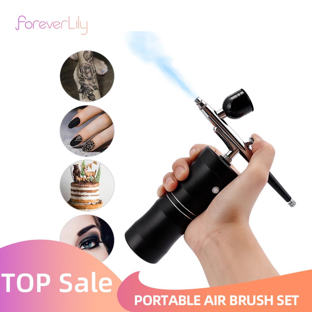 Multi Purpose Cordless Mini Airbrush Set Spray Pump Gen Pen Air Compressor Kit Portable Air Brush Set Art Painting Spray Model