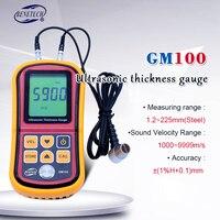 Benetech GM100 Ultrasonic thickness gauge Digital LCD Metal thickness gauge sound velocimeter 1.2 225mm(Steel)0.1mm Resolution