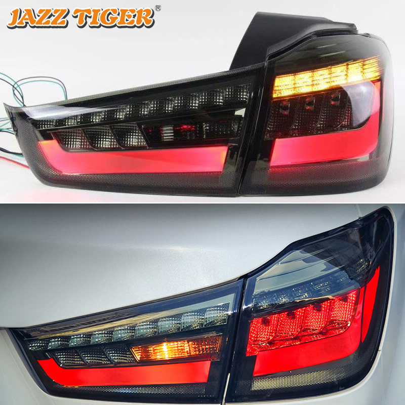 Car LED Tail Light Taillight For Mitsubishi ASX RVR 2011 - 2018 Rear Running Light + Brake Lamp + Reverse + Dynamic Turn Signal
