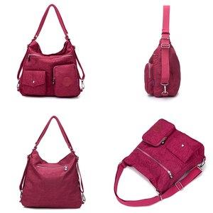 Image 3 - Нейлоновый женский рюкзак, натуральная школьная сумка для подростков, повседневная женская сумка через плечо в стиле преппи, рюкзак для путешествий