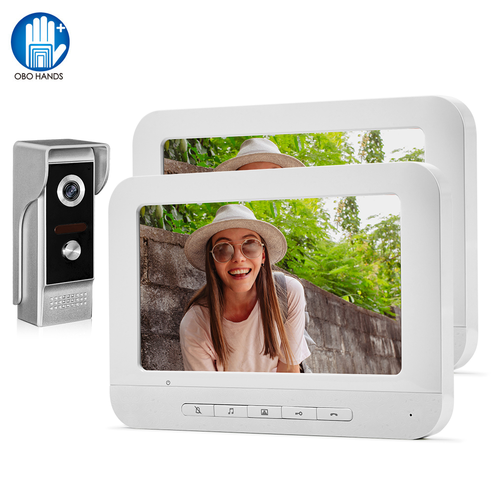 7inch TFT Home Video Doorbell Intercom System Video Door Phone 700TVL Outdoor Camera Door Bell IR Night Vision Color Monitor