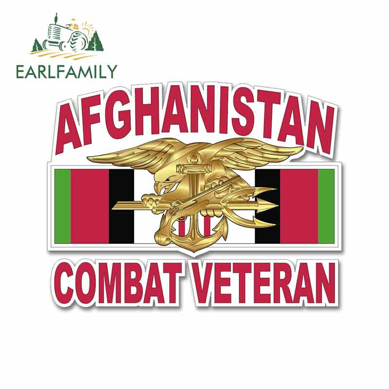 EARLFAMILY 13cm X 12.6cm For <font><b>Afghanistan</b></font> Combat Veteran Car Stickers Decals Anime Occlusion Scratch Creative SUV Decoration image