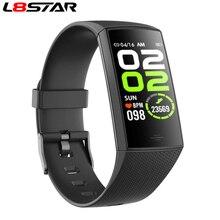 L8star سوار متصل ، مراقب النشاط البدني ، ساعة ذكية ، مراقب معدل ضربات القلب ، ضغط الدم ، عداد الخطى ، للرجال والنساء