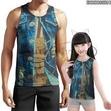 2020 New Hip Hop Polyester 3d Printing Fake Two Vest  O-neck Bodybuilding Ventilation Summer Party Vest