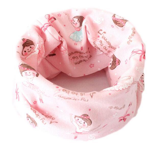 Весенний детский хлопковый шарф, теплый шарф для маленьких детей, осенне-зимние шарфы с героями мультфильмов для мальчиков и девочек, детский воротник с круглым вырезом, волшебный шейный платок - Цвет: 06