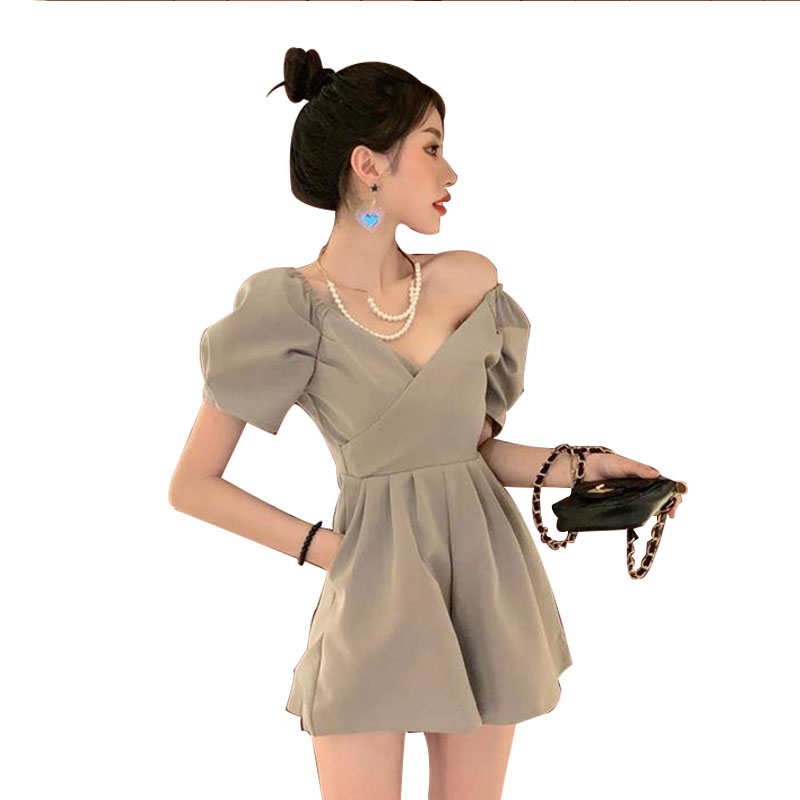 Jumpsuit For Women Sleeveless Zipper Short Playsuits Ladies Sexy V Neck Overalls Rompers Plus Size Bodysuit AA078