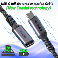 Coaxial USB C Extension Cable Type C Extender Cord USB-C Thunderbolt 3 for Macbook Nintendo Switch USB 3.1 USB Extension Cable