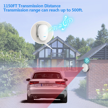 KERUI  Driveway Alarm Systems Smart Home Waterproof Motion Sensor Welcome Doorbell Car Garage Security Signal device For House 1
