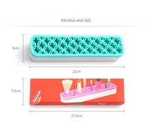 Cosmetic storage box European AOJIAO silicone makeup brush storage box makeup brush storage box beauty tools