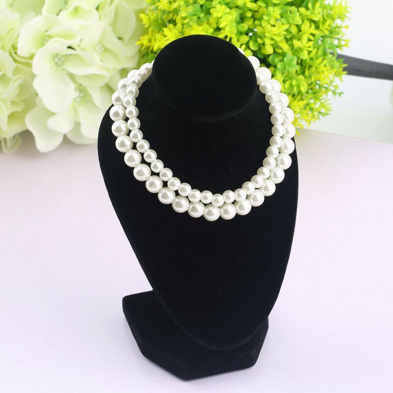 Mannequin Bust Jewelry Necklace Pendant Neck Model Stand Display Rack Holder