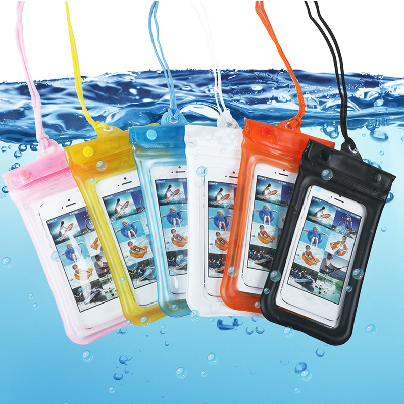 6 Inch Waterproof Phone Case Bag With Touch Screen Neck Strap Summer Deep Diving Ipx7 Bag For Water Sport Swimming Beach Dry Bag