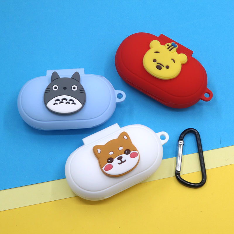 Cartoon Silicon Case For Samsung Galaxy Buds / Galaxy Buds+ Charging Sleeve Wireless Earphone Protective Cover For Samsung Buds+