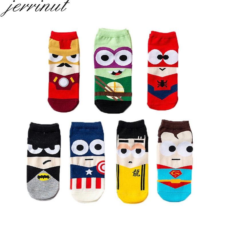 Jerrinut 1Pairs Socks Unisex Winter Retro Cute Short Personality Art Male Harajuku Korean Funny Happy Ankle Men Socks Women