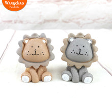 Cartoon Lion Happy Birthday Cake Topper Children Dolls Christmas Decorations for Home Baby Shower Cupcake Toppers Circus Party