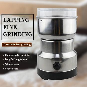 Grains Spices Cereals Coffee Dry Food Grinder Mill Grinding Machine Gristmill Home Nut Bean Crusher Electric Coffee Grinder image