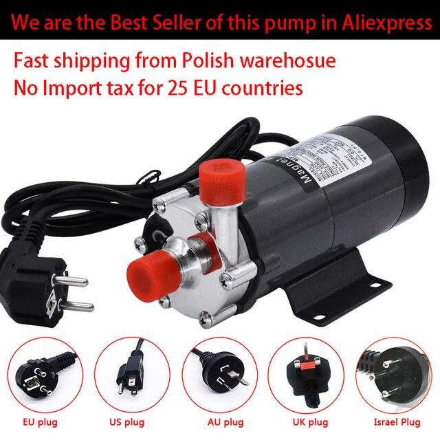 """HomeBrew pompa MP 15R gıda sınıfı 304 paslanmaz çelik bira ev demlemek 220V manyetik su pompası sıcaklık 140C 1/2 """"BSP/NPT"""