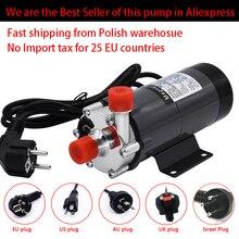 """Homebrew pump MP 15R, food grade 304 brewing aço inoxidável home brew 220v bomba de água magnética temperatura 140c 1/2 """"bsp/npt"""