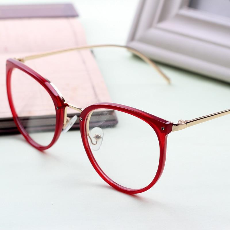 NYWOOH Cat Eye Glasses Women Transparent Eyeglasses Frames Vintage Clear Lens Optical Metal Myopia Spectacles Frame