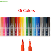 Youpin 36Pcs/Lot KACO ARTIST 36 Colors Double Tip Watercolor Pens Painting Graffiti Art Markers Drawing Set Safe Children Gift