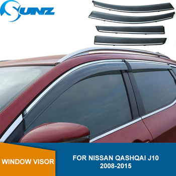 Side Window Deflectors For Nissan Qashqai J10 2008 2009 2010 2011 2012 2013 2014 2015 Window Visor Sun Rain Deflector Guard SUNZ roof rack boxes side rails bars luggage carrier a set for nissan qashqai 2008 2014 2009 2010 2011 2012 2013
