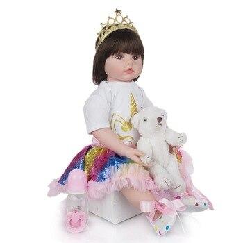 60CM Bebe Reborn Doll  Elegant Reborn Baby Dolls Soft Silicone Cloth Body Princess Doll Lifelike Boneca Reborn Kids Playmate