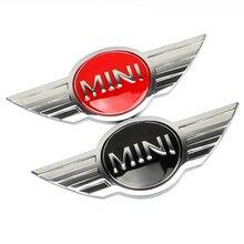 Металлическая 3d Мини Автомобильная эмблема логотип наклейки для MINI Cooper CABRIO работает S Передняя крышка головки задняя крышка коробки эмблемы наклейки