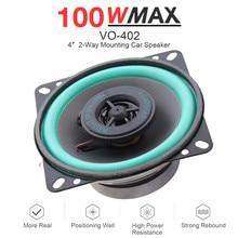1pcs 4 Inch 100W Universal Car HiFi Speaker Vehicle Door Auto Audio Music Stereo Full Frequency Coaxial Speaker Car Loudspeaker