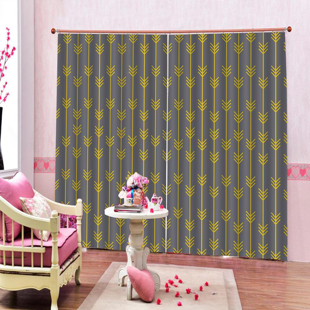 US $56.0 60% OFF|Tribal Feather yellow Arrow Shower Curtain Bedroom Fabric  Bedroom Childrens Modern Hotel Hooks Cute set on AliExpress