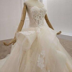 Image 4 - HTL1200 tüll hochzeit kleid 2020 liebsten applique pailletten kristall lace up prinzessin cut hochzeit kleider neue vestido de casamento