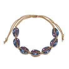 HOT Hawaiian Colorful Handmade Natural Seashell Hand Knit Bracelet Shells Bracelets Women Accessories Beaded Strand