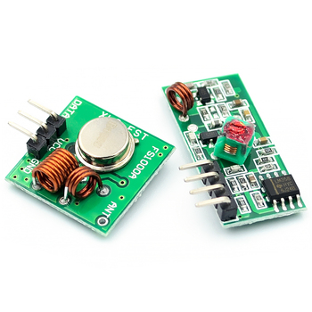 RF wireless receiver module & transmitter module board super regeneration 433MHZ DC5V (ASK /OOK) 1pair =2pcs image