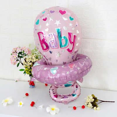 2 шт./партия, 88*55 см, большие детские соски для медсестры, фольга, воздушные шары для мальчиков и девочек, большой детский душ, 1-й день рождения, воздушные шары для украшения, принадлежности