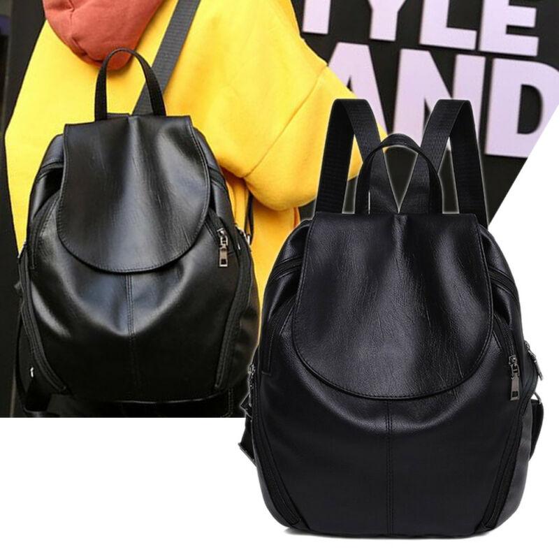 Women Anti-theft Backpack Classic PU Leather Solid Color Backpacks Female Fashion Shoulder Bag Travel Vintage Backpack Rucksack