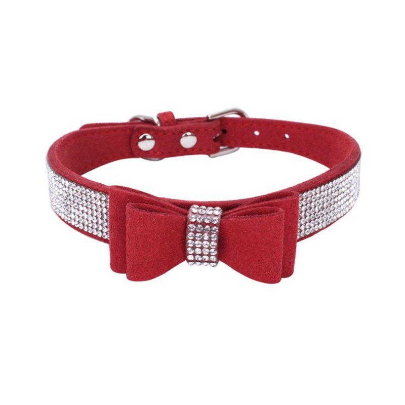 2018-pet-rhinestones-bow-knot-collar-dog-cat-bling-soft-cute-tie-collar-hot-sales-pet-dog-supplies