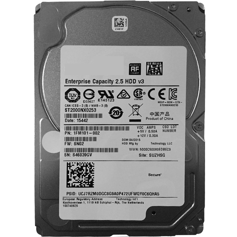 """New HDD For Seagate Brand 2TB 2.5"""" 7.2K SATA 6 Gb/s 128MB For Internal HDD For Enterprise Class HDD For ST2000NX0253 4"""