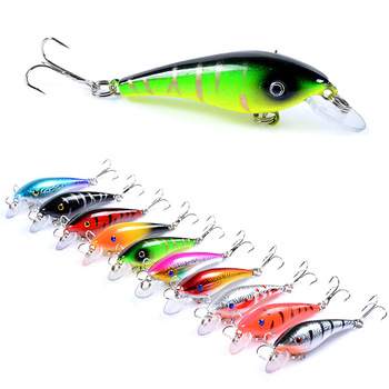 1Pcs Fishing Lure 3D Eye Fish Fishing Bait 5.7cm/4.4g Artificial Bait With 2 Treble Hooks Lure Tackle For Outdoor Fishing image