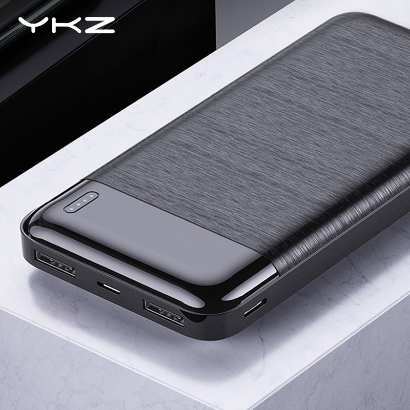 YKZ Power Bank 10000mAh Portable Charging PowerBank 10000 MAh USB PoverBank External Battery Charger For IPhone Xiaomi Mi