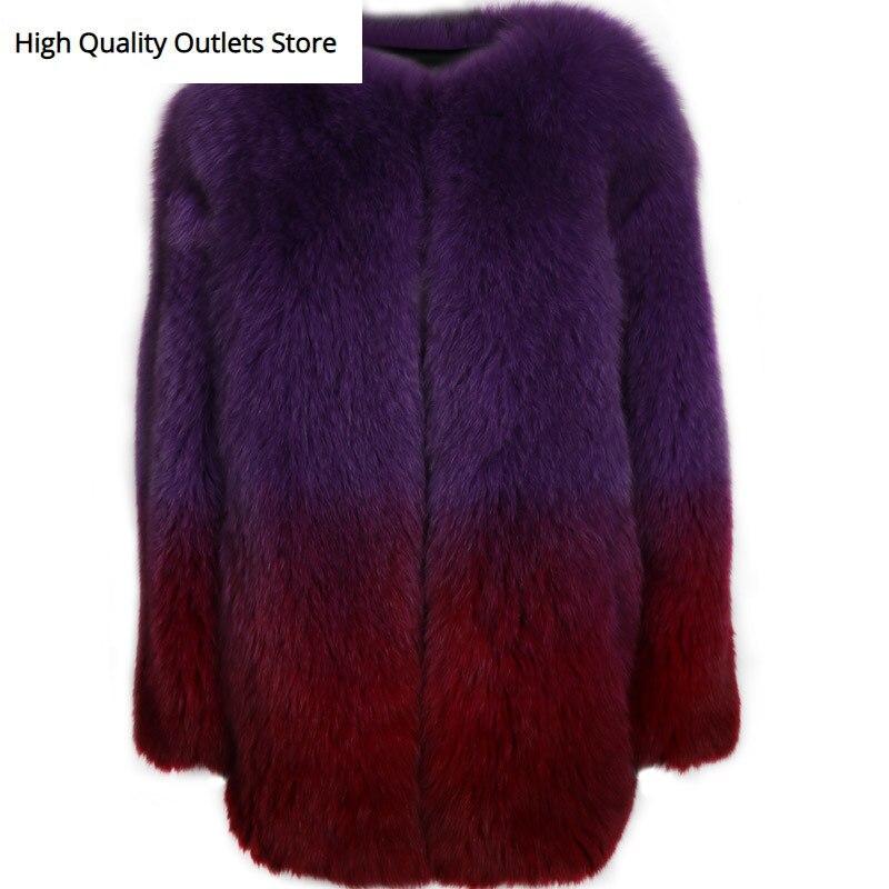 Fox Fur Coat Ladies Real Fur Coat Women Natural Fur Coat