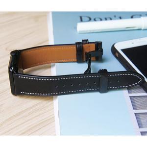 Image 4 - Ремешок итальянский для apple watch 5 band 44 мм 42 мм, натуральный кожаный браслет бабочка для iWatch Series 6 5 4 3 SE 40 мм 38 мм