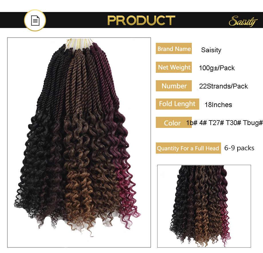Saisity Ombre diosa senegalesa Twist extensiones de cabello de ganchillo con trenzos suaves sintéticos a granel trenzas de ganchillo