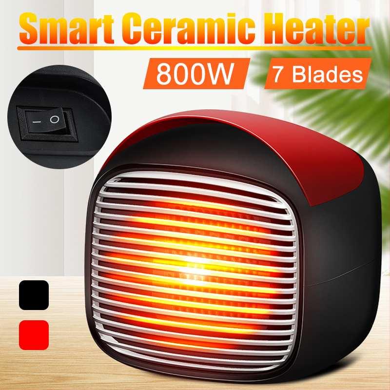 800w Mini Portable Electric Heater Desktop Heating Warm Air Fan Home Office Wall Handy Air Heater Radiator Warmer Fan