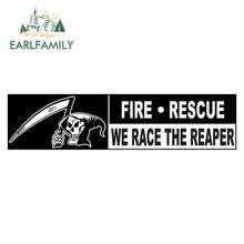 EARLFAMILY 13cm x 3.3cm dla straży pożarnej wyścig Reaper czaszka na samochód naklejki Laptop motocykl deska surfingowa okluzja Scratch Decal